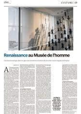 Pour Le Monde, Réouverture du Musée de l'Homme