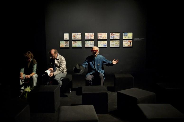 Jean Giraud, Moebius, à la fondation Cartier, le 12 octobre 2010