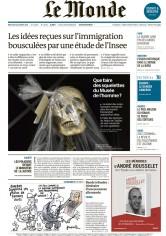 Pour Le Monde, Une du 14 octobre 2015